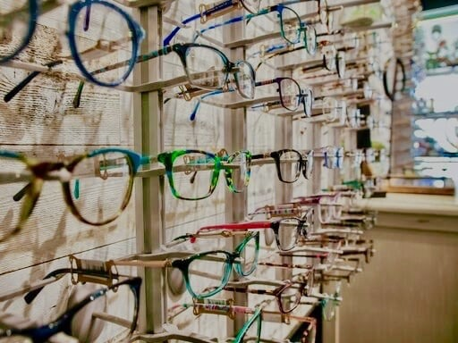 Eye glasses frame board
